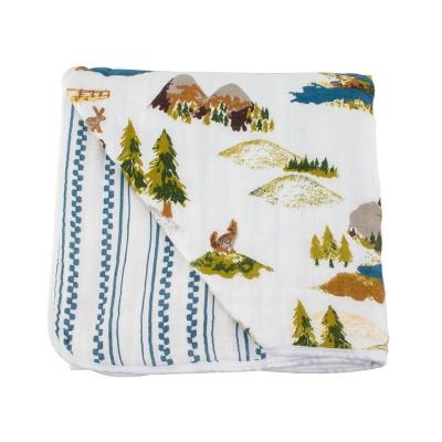 Bebe au Lait Muslin Snuggle Blanket Wyoming - Western Stripe
