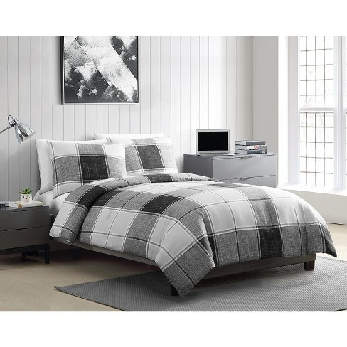 VCNY Home Brent Plaid Comforter Set - Grey 2 Piece Twin XL - image 1 of 4