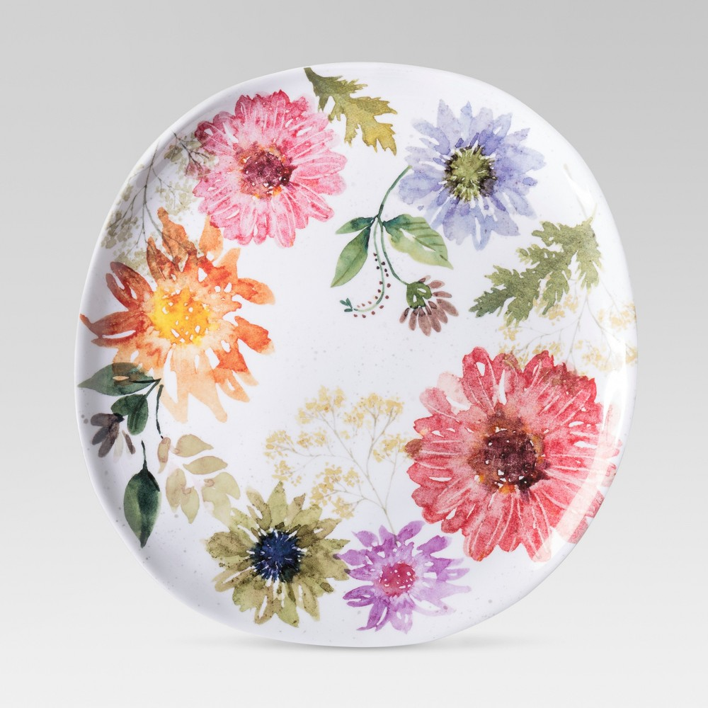 Plastic Dinner Plate 10.5 Floral - Threshold, Multi-Colored