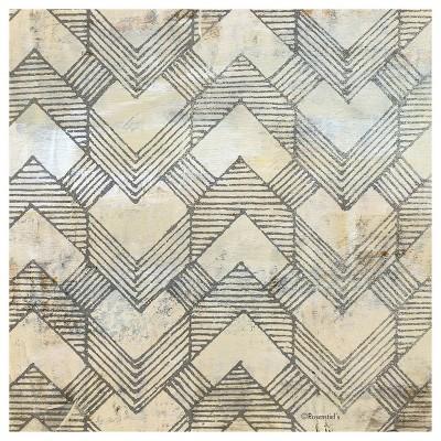 4pk Ceramic Geo Herringbone Print Coasters - Thirstystone
