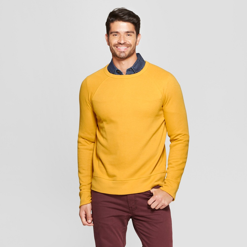 Men's Standard Fit Long Sleeve Waffle Thermal T-Shirt - Goodfellow & Co Squash L