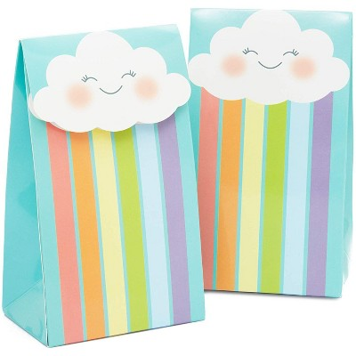 Cloud Party Favor Bags with Stickers for Kids (24 Pack)