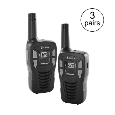 Cobra 16-Mile 22-Channel FRS/ GMRS Walkie Talkie 2-Way Radios | CX112 (3 Pairs)