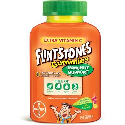 Flintstones Children's Multivitamin Plus Immunity Support Gummies - Cherry, Raspberry & Orange - 150ct