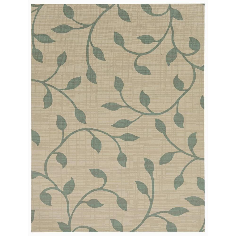Image of 6'x8' Botanica Outdoor Rug Blue/Beige - Foss Floors