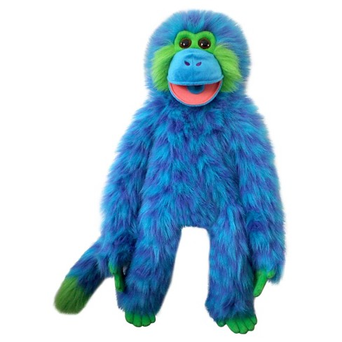 The Puppet Company Funky Monkey Plush Puppet - Blue - image 1 of 2