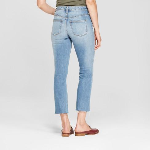 f351cbfc5989 Women's High-Rise Kick Boot Crop Jeans - Universal Thread™ Light Wash