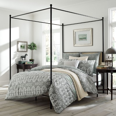 Full/Queen Gray Brie Comforter Set - Stone Cottage