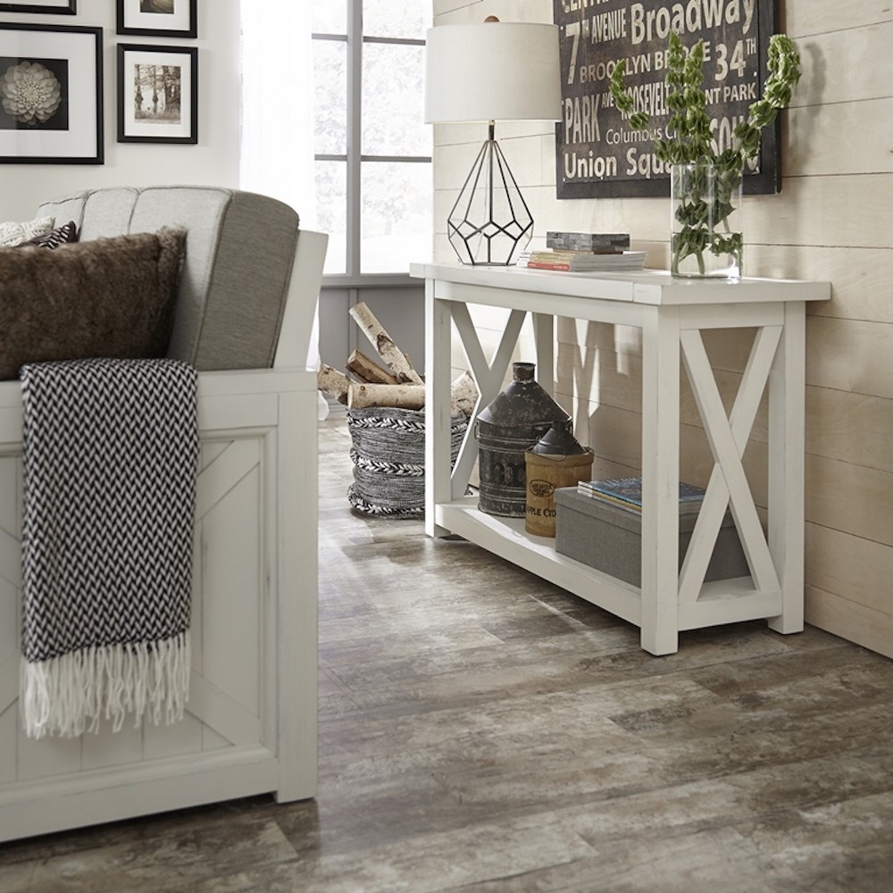 Seaside Lodge Console Table - White - Home Styles