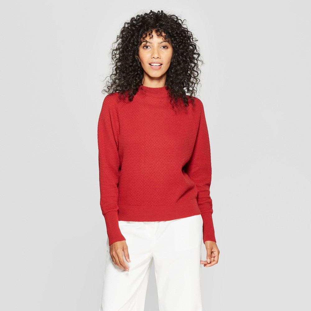 Women's Long Sleeve Pullover Sweater - Prologue Red Xxl