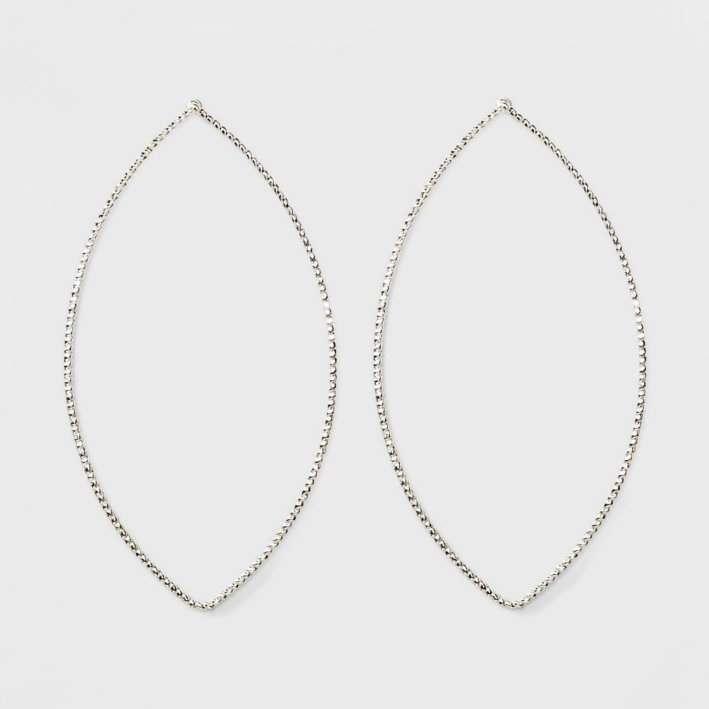 Oval Shaped Hoop Earrings A New Day 8482 Silver