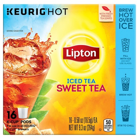 Lipton Iced Tea K Cup Sweet Bags 16ct