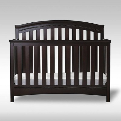 Delta Children Emerson 4-in-1 Convertible Crib - Dark Chocolate