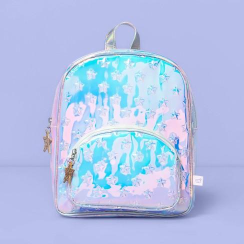 Girls' Star Puff Metallic Mini Backpack - More Than Magic™ - image 1 of 3