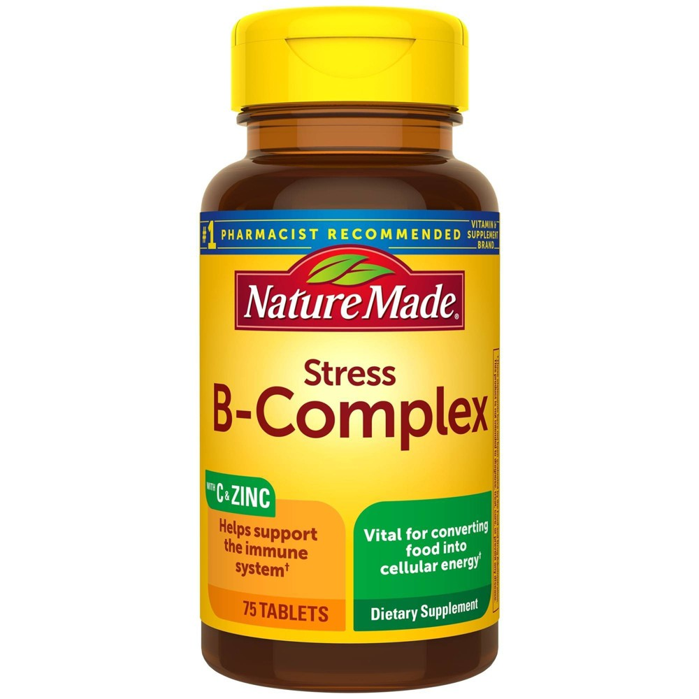 Nature Made Stress B Complex With Vitamin C And Zinc Tablets 75ct