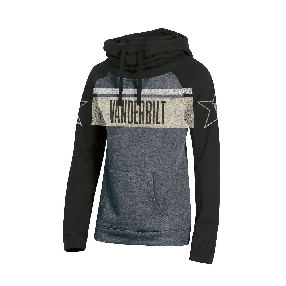 Vanderbilt Commodores Women's Cowl Neck Hoodie - M, Multicolored