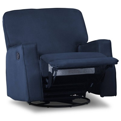Delta Children Caleb Nursery Recliner Glider Swivel Chair - Navy