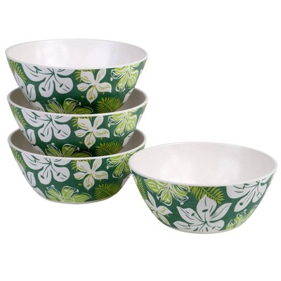 28oz 4pk Melamine Tropicali Bowls Green - Certified International