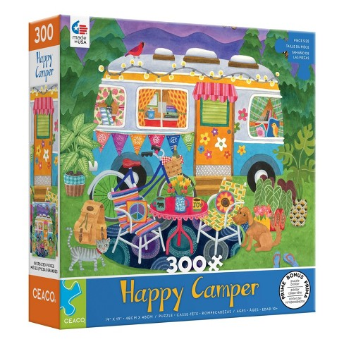 Ceaco Happy Camper: Mountain Camper Oversized Jigsaw Puzzle - 300pc - image 1 of 3