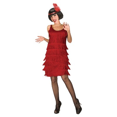 Adult Flapper Halloween Costume Red L
