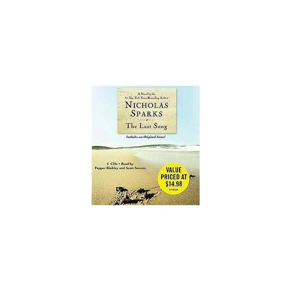 Last Song (Abridged) (CD/Spoken Word) (Nicholas Sparks)