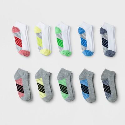 Boys' 10pk Stripe Low Cut Socks - Cat & Jack™