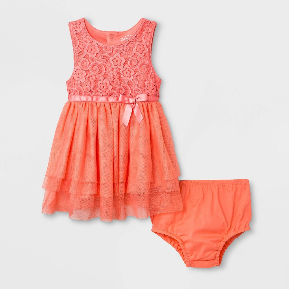 Baby Girls' Fairy Dress - Cat & Jack Coral 6-9M, Pink