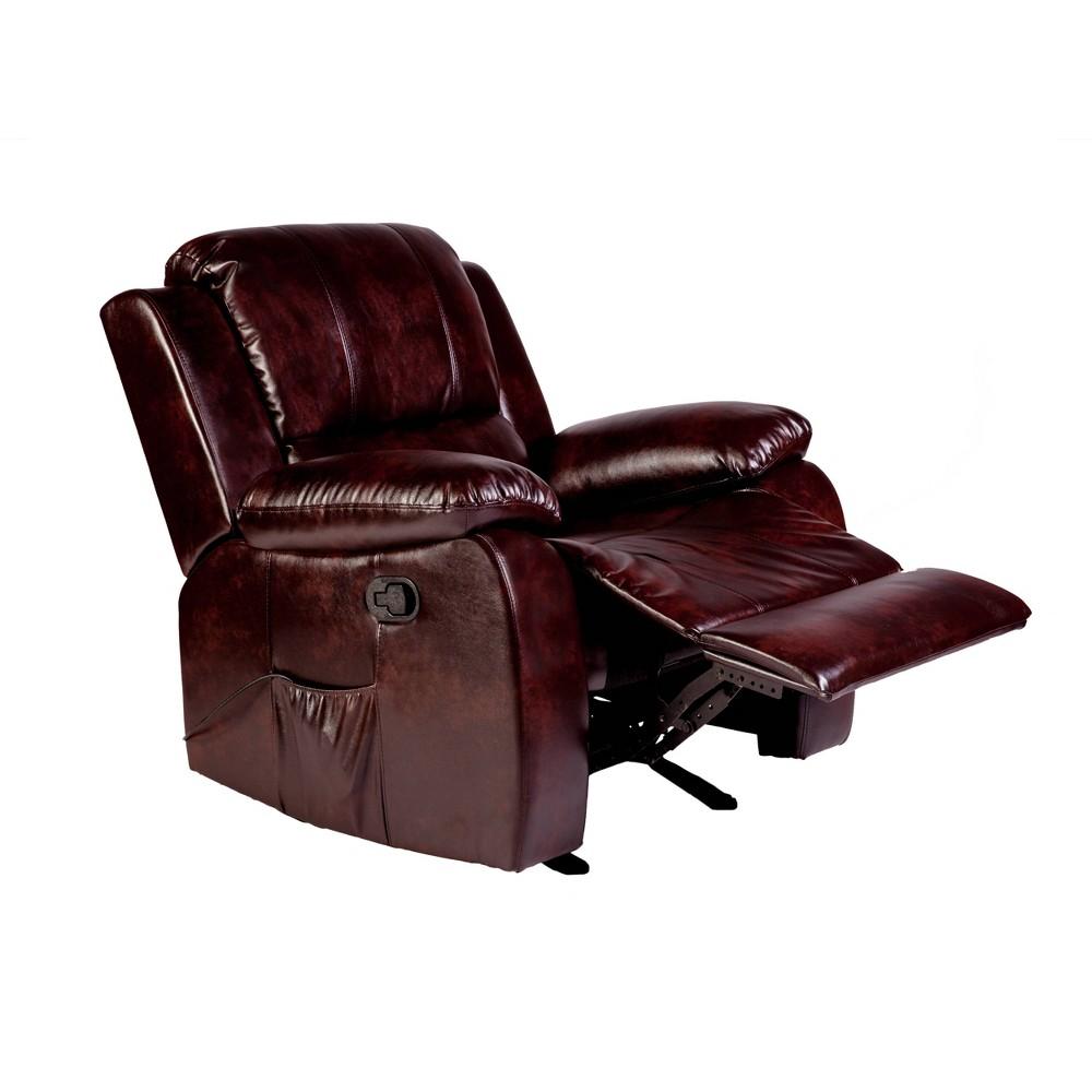 Image of Clarkson Massage Recliner Brown - Relaxzen