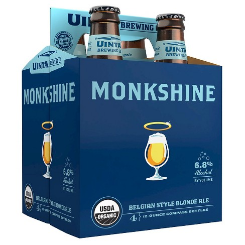 Uinta® Monkshine Belgian Blond Ale - 4pk / 12oz Bottles - image 1 of 1