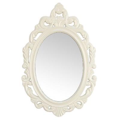 "15.25"" x 23.25"" Baroque Mirror White - Stratton Home Décor"