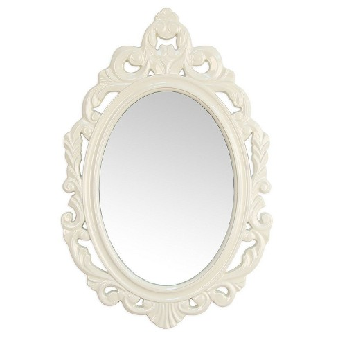 "15.25"" x 23.25"" Baroque Mirror White - Stratton Home Décor - image 1 of 4"
