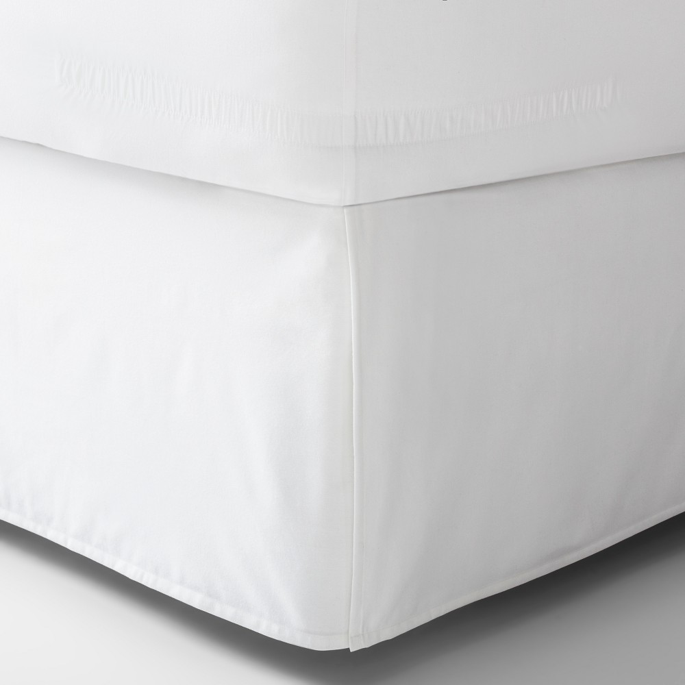 White Solid Bed Skirt (Full) - Made By Design