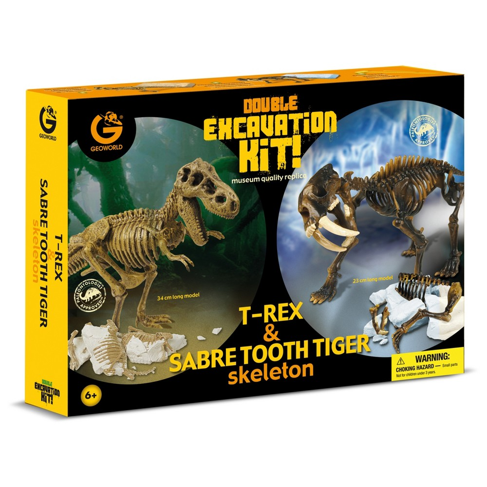 Geoworld Double Excavation Kit - T. Rex & Sabre Tooth Tiger