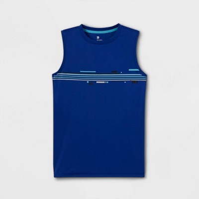 Boys' Sleeveless Striped Graphic T-Shirt - All in Motion™