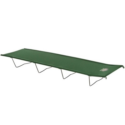 Kamp-Rite Indoor or Outdoor Compact Lightweight Collapsible Economy Cot, Ideal for Hotels, Sporting Events, Beach Days, & Emergency Situations, Green