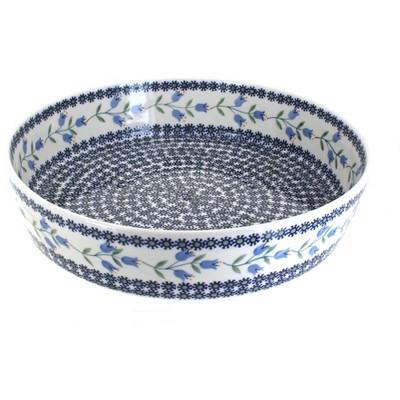 Blue Rose Polish Pottery Tulip Large Round Baker