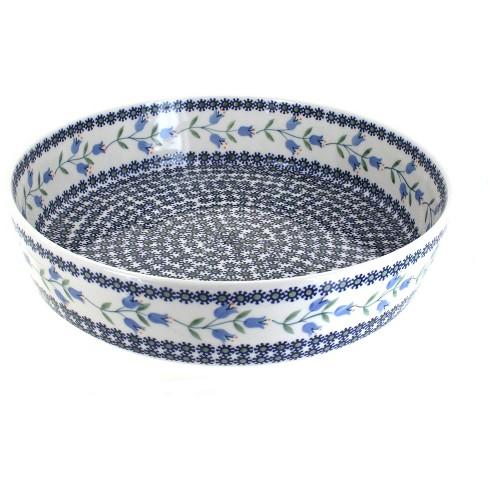 Blue Rose Polish Pottery Tulip Large Round Baker - image 1 of 1