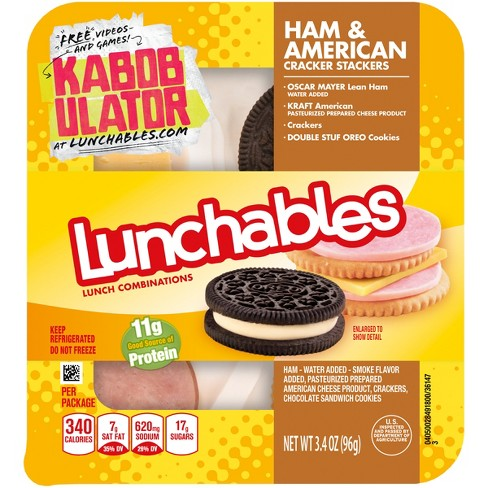 Oscar Mayer Lunchables Ham + American Cracker Stackers 3.4 oz - image 1 of 1