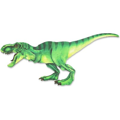 "Blue Panda Jumbo Dinosaur Floor Puzzle, Double-sided T Rex & Skeleton Dino Giant Foam Jigsaw Puzzles Play Mat, 47.9"" x 21.67"", 17pc"