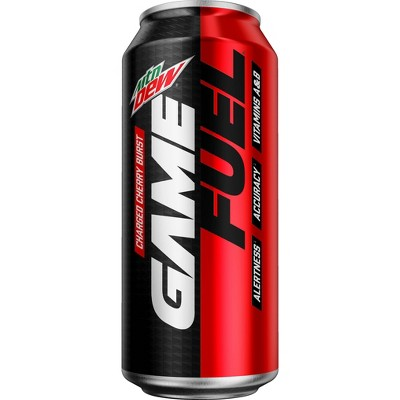Mountain Dew AMP Game Fuel Charged Cherry Burst - 16 fl oz Can