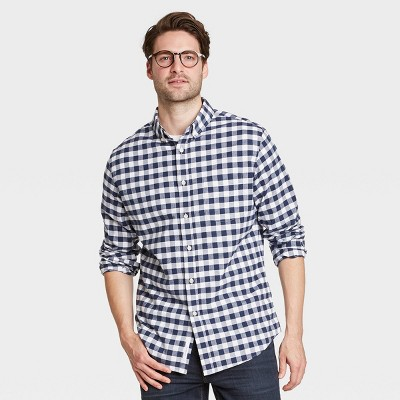Men's Slim Fit Stretch Oxford Long Sleeve Button-Down Shirt - Goodfellow & Co™