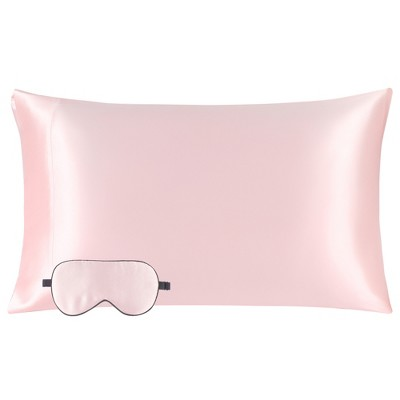 1 Pc Queen Silk for Hair and Skin Pillowcase Pink - PiccoCasa