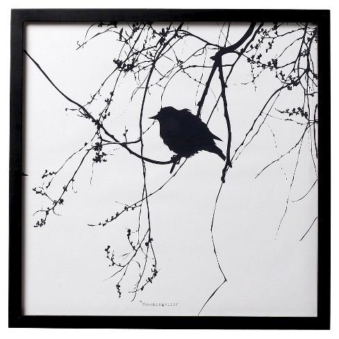 Bird Black Framed Wall Art - 3R Studios - image 1 of 1