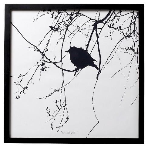 Bird Black Framed Wall Art - 3R Studios : Target