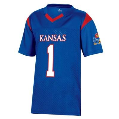 NCAA Kansas Jayhawks Boys' Short Sleeve Jersey