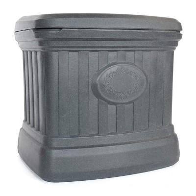FCMP Outdoor SB120-GRY-S 20 Gallon Sand, Salt, Snow & Ice Melt De-Icer Outdoor Storage Bin Container, Gray