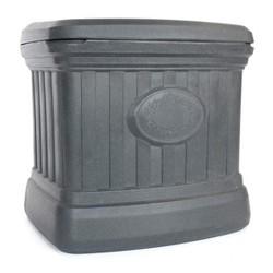 FCMP Outdoor SB120-GRY-S 20 Gal. Sand, Salt, Ice Melt Outdoor Storage Bin, Gray