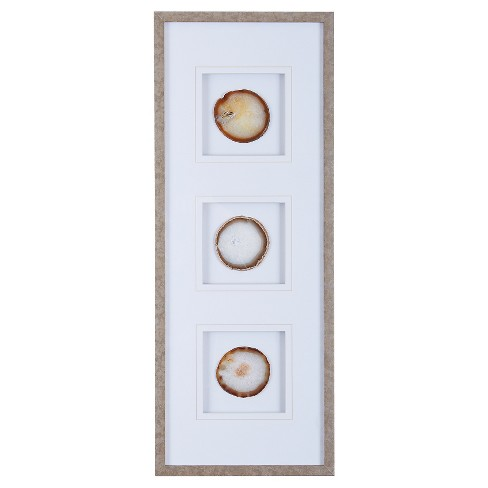 "Agate Trio Stone Framed Graphic (4"" Agate) - image 1 of 4"