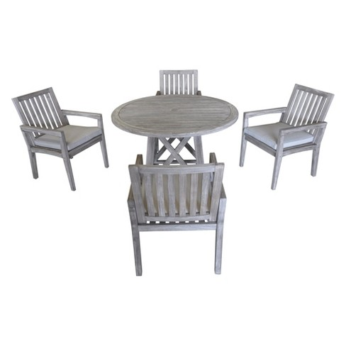 Teak Round Surf Side Outdoor Dining Table - Driftwood Gray - Courtyard  Casual : Target - Teak Round Surf Side Outdoor Dining Table - Driftwood Gray