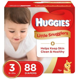 Huggies Little Snugglers Diapers - Size 3 (88ct)
